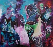 Spring,, 80x70 Acryl auf Canvas