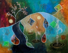 Blossom, 100x80 Acryl auf Canvas